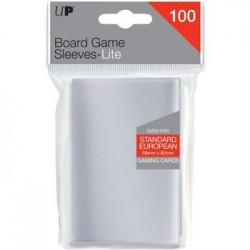 UP - Lite Standard European Board Game Sleeves 59mm x 92mm (100 Sleeves)