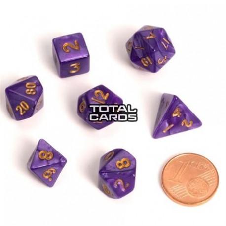 Blackfire Dice - Fairy Dice RPG Set - Marbled Purple (7 Dice)