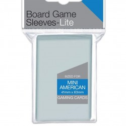 UP - Lite Mini American Board Game Sleeves 41mm x 63mm (100 Sleeves)