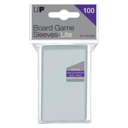 UP - Lite Mini European Board Game Sleeves 44mm x 68mm (100 Sleeves)