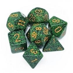 Chessex Speckled Polyhedral 7-Die Set - Golden Recon